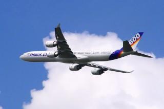 Airbus A340-600 während der ILA 2004