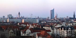 Panorama Leipzig vom Fockeberg