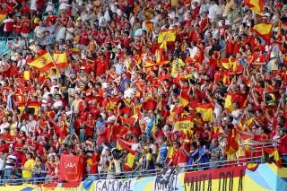 Fußballfans WM 2006 in Leipzig (Spanien - Ukraine)